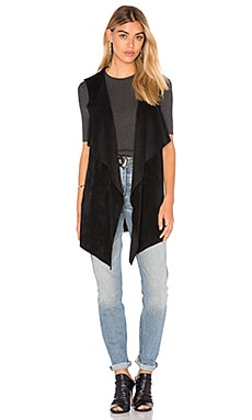 Velvet by Graham & Spencer Farren Drape Front Vest in Black