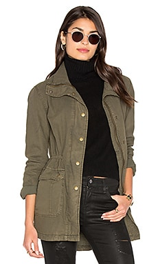 Arlene Parka Jacket in Deep Green