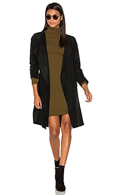 Aubrey Suede Wrap Jacket in Black