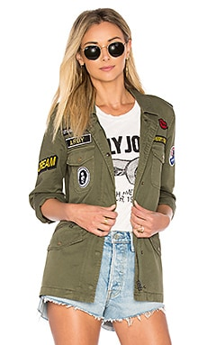 Andreea Military Jacket in Forest