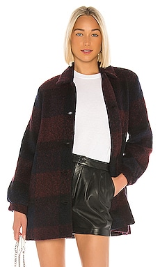 Kourtney Plaid Coat Velvet by Graham & Spencer $197