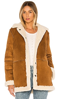 Kailani Faux Suede Sherpa Coat Velvet by Graham & Spencer $299