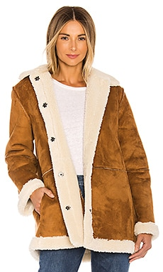 Kailani Faux Suede Sherpa Coat Velvet by Graham & Spencer $210