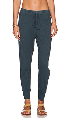 Velvet by Graham & Spencer Makon Cotton Slub Sweatpant in Bluebird