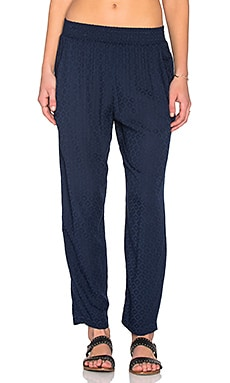 Velvet by Graham & Spencer Sloe Damask Rayon Skinny Pant in Viking