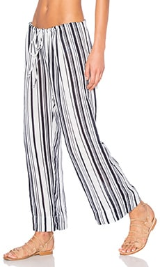 Velvet by Graham & Spencer Omarina Vertical Stripe Pant in Multi