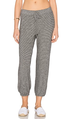 Velvet by Graham & Spencer Faine Tied Waist Jogger Pant in Black & White