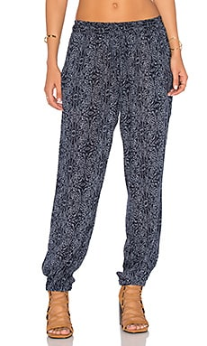 Velvet by Graham & Spencer Janalee Printed Pant in Navy