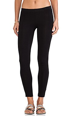 Velvet by Graham & Spencer Swoosie Cotton Lycra Legging in Black
