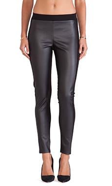 Velvet by Graham & Spencer Lenore Ponti w/ Faux Leather Pants in Black