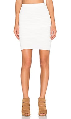Velvet by Graham & Spencer Larsa Soft Texture Knit Skirt in Off White