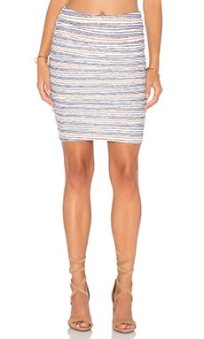 Velvet by Graham & Spencer Kipp Stripe Texture Knit Pencil Skirt in Multi