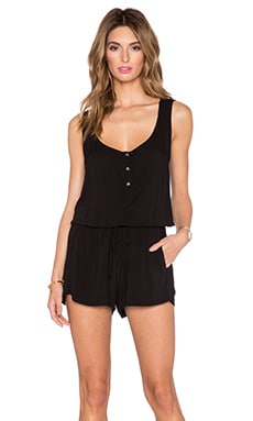 Velvet by Graham & Spencer Nolia Rayon Challis Romper in Black