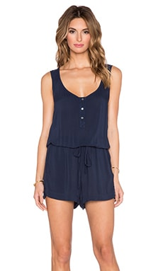 Velvet by Graham & Spencer Nolia Rayon Challis Romper in Postman