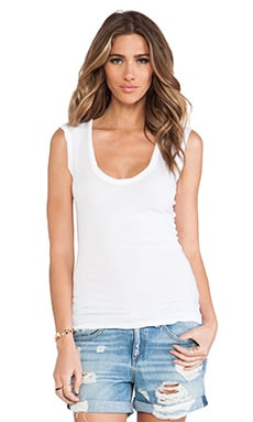 Velvet by Graham & Spencer Estina Gauzy Whisper Classics Tank in White