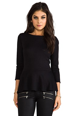 Ponti Meg Peplum Top in Black