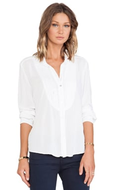 Velvet by Graham & Spencer Vesta Rayon Challis Top in White