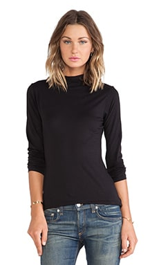 Velvet by Graham & Spencer Talisia Gauzy Whisper Turtleneck in Black