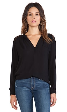 Velvet by Graham & Spencer Kerry Rayon Challis Top in Black