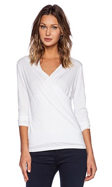 Velvet by Graham & Spencer Gauzy Whisper Classics Meri Top in White