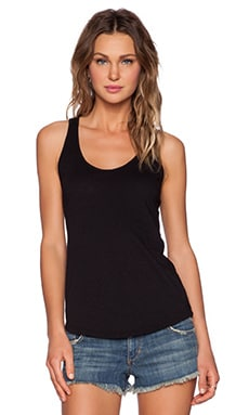 Cotton Slub Duchess Tank in Black