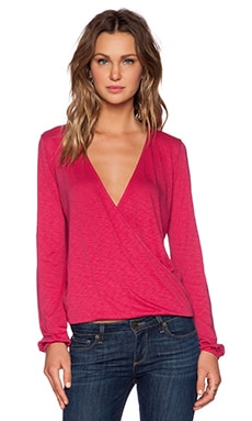 Velvet by Graham & Spencer Luxe Slub Faylinn Top in Cardinal