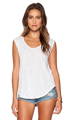 Velvet by Graham & Spencer Geralyn Sheer Texture Knit Top in White