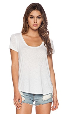 Velvet by Graham & Spencer Luxe Slub Calista Tee in White