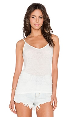 Velvet by Graham & Spencer Christiana Linen Knit Cami in Foam