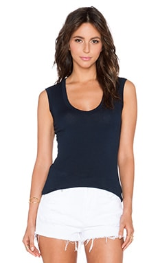 Velvet by Graham & Spencer Estina Gauzy Whisper Tank in Midnight