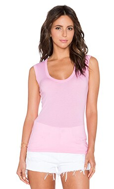 Velvet by Graham & Spencer Estina Gauzy Whisper Tank in Rose