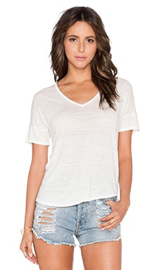 Velvet by Graham & Spencer Ursula Linen Knit Tee in Foam
