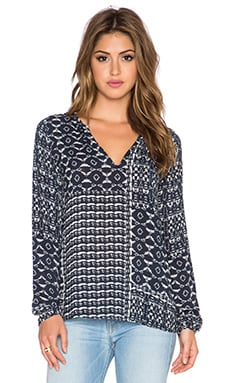 Velvet by Graham & Spencer Vera Printed Challis Top in Twilight