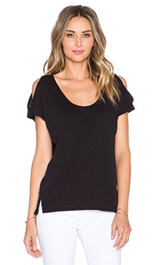 Velvet by Graham & Spencer Amaria Cotton Slub Tank in Black
