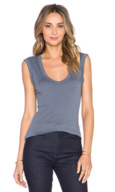 Velvet by Graham & Spencer Estina Gauzy Whisper Tank in Mica