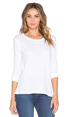Velvet by Graham & Spencer Kilia Cotton Slub Tee in White