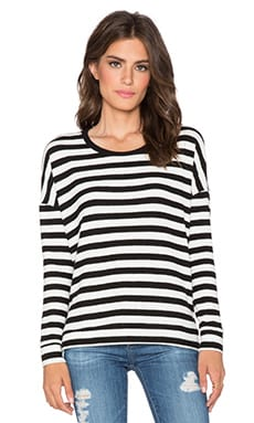 Velvet by Graham & Spencer Teresita Cozy Jersey Stripe Top in Cream