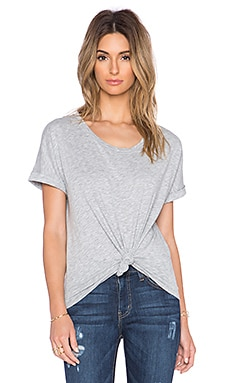 Velvet by Graham & Spencer Avelina Cotton Slub Tee in Heather Grey