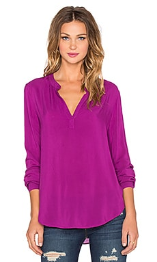 Velvet by Graham & Spencer Rosie Rayon Challis Top in Beet