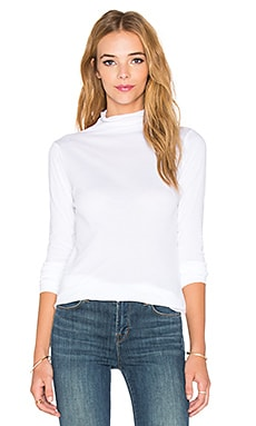 Velvet by Graham & Spencer Talisia Gauzy Whisper Turtleneck in White