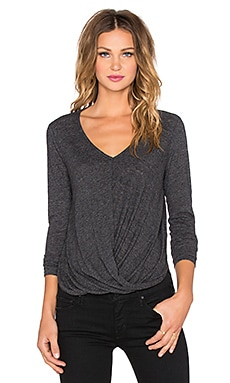Velvet by Graham & Spencer Verlinn Soft Texture Knit Top in Charcoal