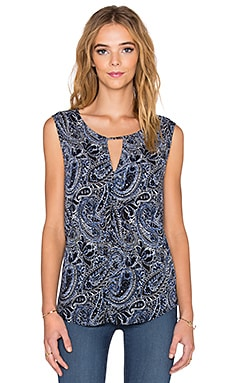 Velvet by Graham & Spencer Carlina Printed Challis Tank in Paisley