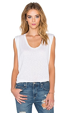 Velvet by Graham & Spencer Harpa Lux Slub Tank Top in Crema