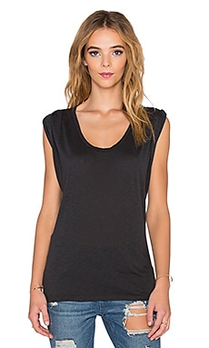 Velvet by Graham & Spencer Harpa Lux Slub Tank in Elephant