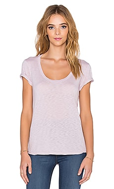 Velvet by Graham & Spencer Lovelle Lux Slub Tee in Silica