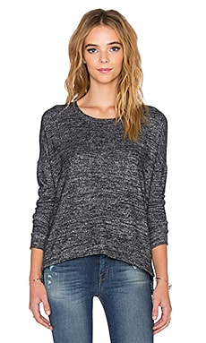 Velvet by Graham & Spencer Stace Cozy Jersey Long Sleeve Tee in Marled
