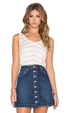 Blayne Soft Twill Stripe V Neck Tank