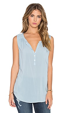 Eleanor Rayon Challis Three Button Tank in Belize