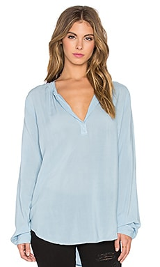 Velvet by Graham & Spencer Rosie Rayon Challis Long Sleeve Top in Belize