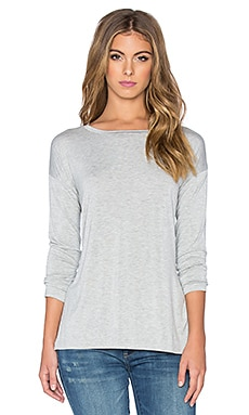 Velvet by Graham & Spencer Alexandra Modal Knit Long Sleeve Top in Heather Grey